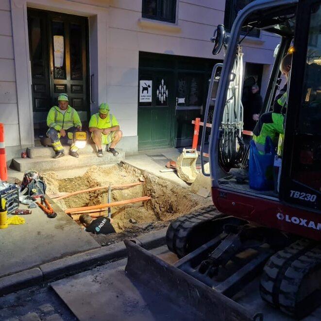 Vores elinstallatør i København udfører en opgaver hvor der er blevet gravet et kabel over